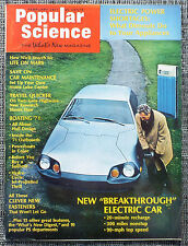 Popular Science Magazine. February 1971. Breakthrough Electric Car, Boating '71