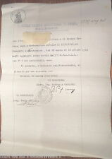 DOCUMENTO DI EPOCA FASCISTA REAL SCUOLA TECNICA INDUSTRIALE TRANI DI SALERNO E