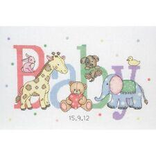 Anchor-contati Punto Croce Kit-Nascita Record-Baby Animali-acs30