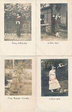 Nr.19418 4x Privat Foto PK schöne Frauen um 1914