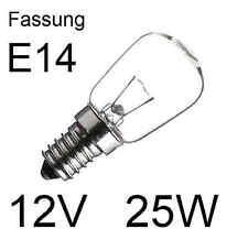 3x Glühlampe Glühbirne Lampe Birne Spezial Ersatz E14 12V 25W klar  432804