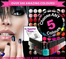 ANY 5x Bluesky SoakOff Gel Polish! Choose From Over 300 Colours+ Removal Wraps