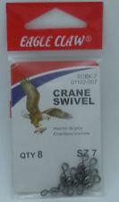 Eagle Claw 01102-007 Black Crane Swivel Size 7 8CT 20101