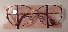 Vintage Cheryl Tiegs 106 Demi Wine 55/13 Eyeglass Frame New Old Stock