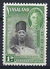 Nyasaland 1945 Sc# 69 Soldier of King's African Rifles GB MNH