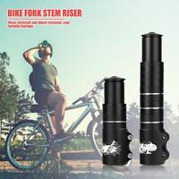 Bicycle Fork Stem Extender MTB Bike Handlebar Riser Head Up Adapter 115mm/180mm