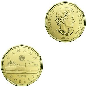 2018 BU Loonie From The Special Wrap Roll Set.