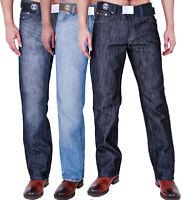 MENS BIG WAIST CLASSIC JEANS STRAIGHT LEG REGULAR FIT WAIST 42 44 46 48 50 52 54