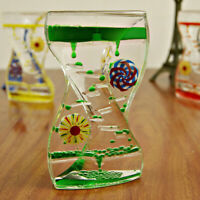 1*Floating Color Mix Illusion Liquid Oil Hourglass Timer Fun Classic Sensory Toy