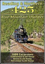 READING & NORTHERN 425 BLUE MOUNTAIN THUNDER VOL 1 DVD VIDEO STEAM TRAIN VIDEOS