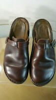 NAOT Clogs Mules Slides With Buckle Brown Women's Size 39 EU 8 US