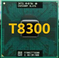 Intel Core 2 Duo T8300 CPU Dual 2.4GHz 3MB 800MHz Socket P SLAYQ Processor