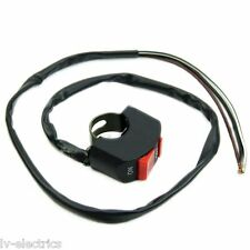 MOTORCYCLE DIRT PIT BIKE ON/OFF KILL STOP START BUTTON SWITCH CABLE LEAD cx