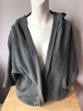 Eileen Fisher Hoodie Kimono Sweater Open Front Cardigan Cotton Sz PM