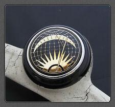 Vw Deluxe Horn Push Button Sun & Moon Negro Split Bus Beetle K Ghia T1 T2