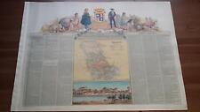 1875 MAPA Provincia de Palencia, Esteban Collantes, Cromo Ruiz Boronat y Satorre