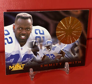 1996 Pinnacle Mint Collection EMMITT SMITH BRONZE STAMP DALLAS COWBOYS CARD