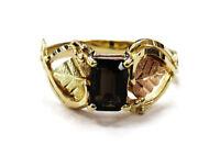 10K Yellow Gold Smoky Quartz Ladies Ring ~ 2.1g