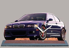 MODEL CARS, BMW M3- E46 -04, car passenger,11,8x 7,8 inches  with Clock