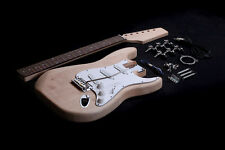 DIY Electric Guitar Kit Project Bolt-On Mahogany Dot Inlay Unfinished EGK01