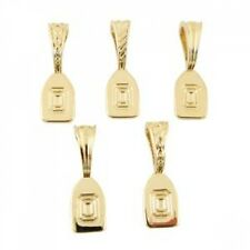 FUSEWORKS FUSING GOLD PLATED ASSORTED ART PENDANT BAILS FINDINGS FOR NECKLACE