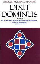 Handel DIXIT DOMINUS VOCAL SCORE Choral imparare cantare Play PIANOFORTE MUSICA LIBRO