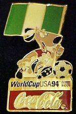 1994 Lapel Pin Coca Cola World Cup Soccer USA Nigeria Tac Trading Pins