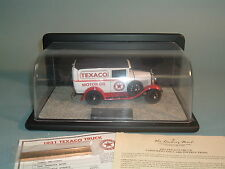 1931 TEXACO FORD PANEL DELIVERY TRUCK DANBURY MINT DIECAST 1:24 WITH DISPLAY