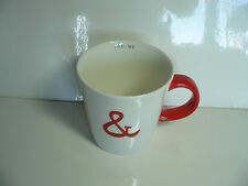 STARBUCKS 12 oz Ceramic White Red You & and Me Mug Cup Love Heart Valentines Day