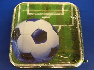 """Heads Up Soccer Sports Banquet Party 7"""" Square Plates"""