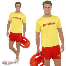 "FANCY DRESS COSTUME # MENS 80s BAYWATCH LIFEGUARD CASUAL BEACH MALE SIZE 38""-44"""