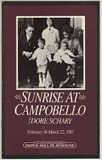 """Sunrise at Campobello"" 1987 Playbill Paper Mill Playhouse Millburn, New Jersey"