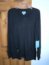 Simply Vera Vera Wang women's button-down cardigan sweater size XL - NWT $58