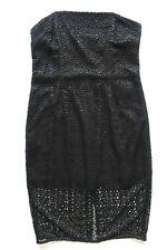 Next Tailored Women`s Ladies Black Lace Bandeau Party Dress Size 12P
