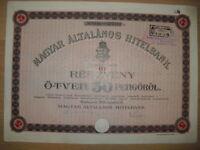 Magyar Altalanos Hitelbank  Budapest 1926 Ungarn