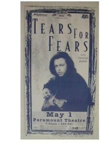 Tears For Fears Handbill Poster Great Shot