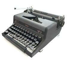 Classic ROYAL QUIET de LUXE TYPEWRITER Working Portable Vtg Restored Gray Black
