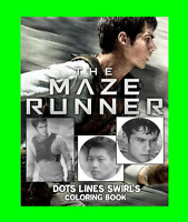 The Maze Runner Dots Lines Swirls Spiroglyphic Coloring Book Meditation Fun Gift