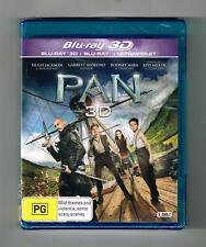 Pan 3D Blu-ray + Blu-ray + Ultraviolet 2-Disc Set Brand New & Sealed