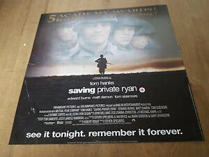 SAVING PRIVATE RYAN  5 ACADEMY AWARDS ORIGINAL 1999 vintage MOVIE POSTER 21 year