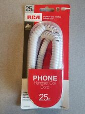 RCA RJ11Coiled Cord Phone Telephone Handset 25ft White
