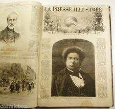 Reliure cuir la PRESSE ILLUSTREE intégral gravures 1871 à 1872 histoire colonies
