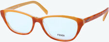 NEWT W AUTHENTI CARD FENDI F1002 52/15/135  BEAUT HAVANA EYEGLASSES W HARD CASE