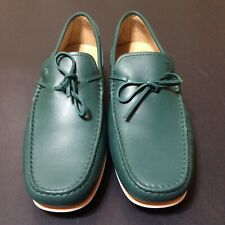 Tods Mens Green  Driving Shoes 9.5 Made In Italy