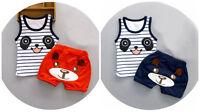 2pc baby boys clothes summer sleeveless Tee+short pants kids boys outfits panda
