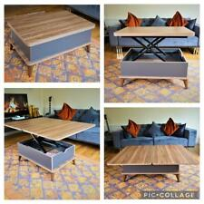 MAGIC WALNUT&GREY EXTENDABLE COFFEE / DINING TABLE 6 IN 1