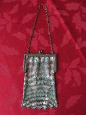 Vintage Antique 1920's Flapper Era Enamel Mesh Hand Bag Purse Whiting & Davis
