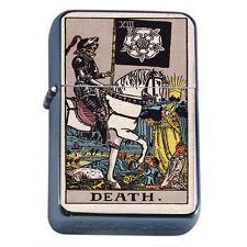 Tarot Card D14 Flip Top Oil Lighter Wind Resistant Flame XIII Death