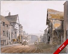 CONWAY NORTH WALES WELSH TOWN SCENE 1803 PAINTING ART REAL CANVAS GICLEEPRINT