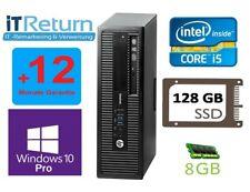 HP EliteDesk 800G1 SFF PC Intel Quad Core i5-4570 4x 3,2GHz 8GB RAM 128GB SSD DP